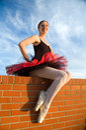 Pleased Ballerina Royalty Free Stock Photography
