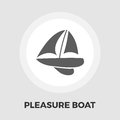 Pleasure Boat Icon Royalty Free Stock Photo