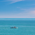 Pleasure Boat in the Sea Royalty Free Stock Photo
