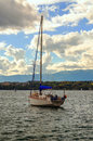 Pleasure boats by the lake leman Royalty Free Stock Photo