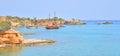Pleasure boats in the sea. Royalty Free Stock Photo