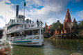 Pleasure ship molly brown at disneyland paris france november artificial river in on november it is the most visited Stock Images