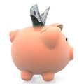 Plein piggybank 3D Photo stock