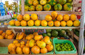 Plenty of fruits, mangoes, coconuts, watermelons Royalty Free Stock Photo