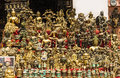 Plenty of souvenirs in nepali giftshop kathmandu Royalty Free Stock Photography
