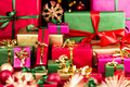 Plenty of Xmas Gifts Piled Up Royalty Free Stock Photo