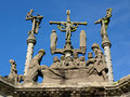 Pleyben Church Calvary 2 Stock Image