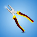 Pliers instrumment on a blue background vector illustration Stock Photography