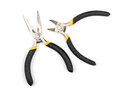 Pliers nippers small shadow white background Royalty Free Stock Photo