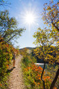 Plitvice autumn trail Stock Photo
