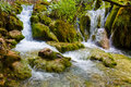 Plitvice lakes in croatia nature travel background Stock Photo