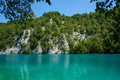 Plitvice lakes national park croatia beautiful landscape in the turquoise water of Stock Images