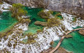 Plitvice lakes national park in croatia vegetation just before it begin to rebuild after long winter Stock Photography