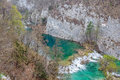 Plitvice lakes national park in croatia vegetation just before it begin to rebuild after long winter Stock Photos