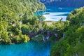 Plitvice Lakes national park waterfall Royalty Free Stock Photo