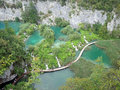 Plitvice lakes a view of the in croatia Royalty Free Stock Photography