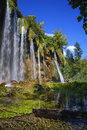 Plitvice lakes waterfalls at national parka croatia Stock Images