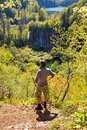 Plitvice lookout Royalty Free Stock Photos