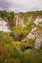 Plitvice morning fall Royalty Free Stock Photos