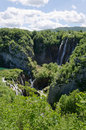 Plitvice national park mountain landscape with waterfalls and lakes croatia Royalty Free Stock Photography