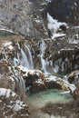 Plitvice in winter Stock Photography