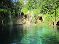 Plitvicka jezera Croatian lake Royalty Free Stock Photo