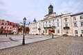 Plock poland city in masovia mazowsze region main square Royalty Free Stock Images