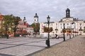 Plock poland september people visit old town in with people is among largest cities in it dates back to Stock Image