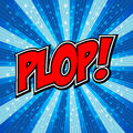 Plop comic expression vector text speech bubble cartoon art and illustration file Royalty Free Stock Photography