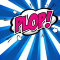 Plop comic expression vector text speech bubble cartoon illustrator eps Stock Photography