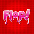 Plop comic expression vector text speech bubble cartoon illustrator eps Stock Photo