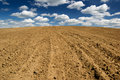 Ploughed field. Royalty Free Stock Photo