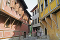 Plovdiv Narrow Street Royalty Free Stock Photo