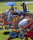 Plow plough competitors prepare Royalty Free Stock Photo