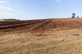 Plowed Farm Field Landscape Royalty Free Stock Photo