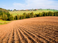 Plowed field in kansas united states Stock Photography