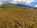 Plowed field in tuscany italy newly the tuscan countryside Stock Image