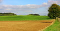 Plowed land in the aisne Royalty Free Stock Photo