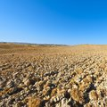 Plowed land in Italy Royalty Free Stock Photo