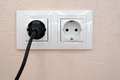 Plug in socket Royalty Free Stock Photo