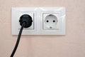 Plug in socket Royalty Free Stock Photo