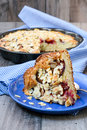 Plum and almond cake Royalty Free Stock Photography