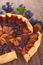 Plum cake close up on Royalty Free Stock Images