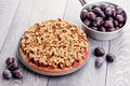 Plum cake homemade sweet food Royalty Free Stock Image