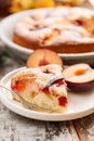 Plum cake on the table Royalty Free Stock Image