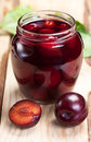 Plum compote in jar. Stock Photography