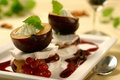 Plum dessert Royalty Free Stock Images
