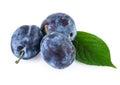 Plum Fruits over White Royalty Free Stock Photo