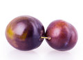 Plum isolated on white background Stock Photo