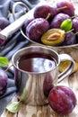 Plum juice Royalty Free Stock Photo